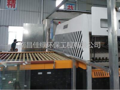 湖南益阳梅城玻璃钢化炉噪声治理工程